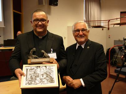 Deacon Vinhal and Bishop Fürst